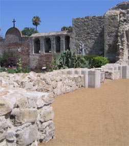 The historic Mission at San Juan Capistrano